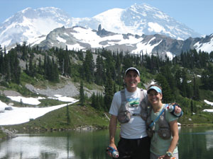 Chris and Marty Fagan at Mount Rainier